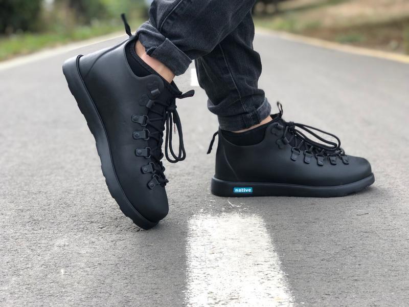 Крутые ботинки 🔥 native fitzsimmons black 🔥 зима - Фото 4