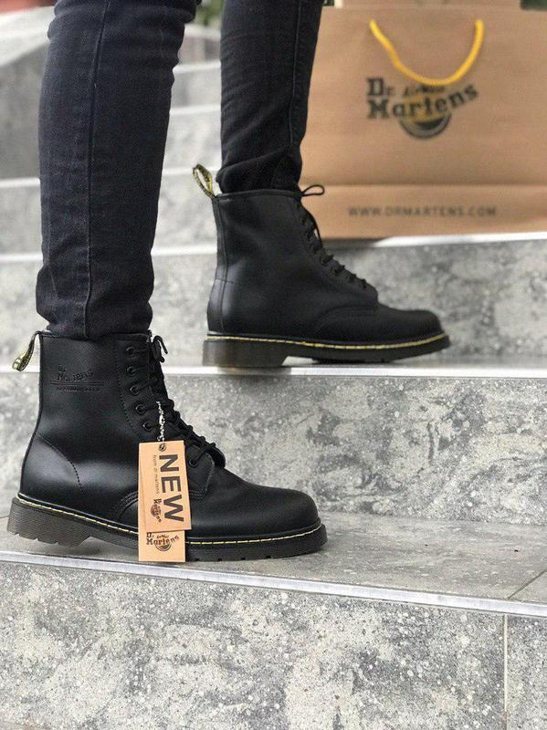 Стильные ботинки 🔥 dr. martens black1460 ❄️❄️ мех зима