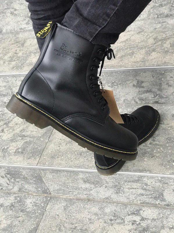 Стильные ботинки 🔥 dr. martens black1460 ❄️❄️ мех зима - Фото 3