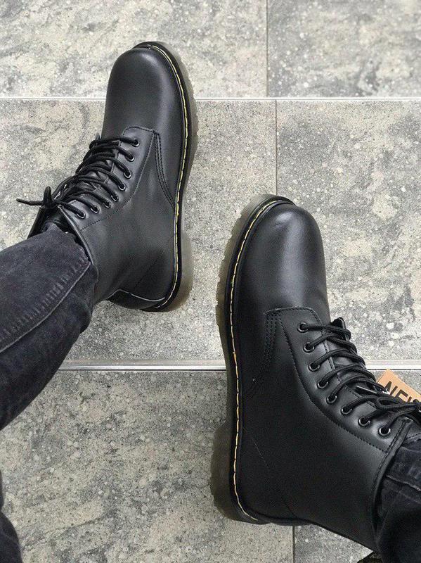 Стильные ботинки 🔥 dr. martens black1460 ❄️❄️ мех зима - Фото 5