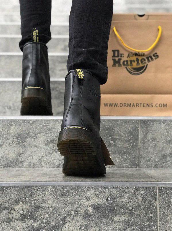 Стильные ботинки 🔥 dr. martens black1460 ❄️❄️ мех зима - Фото 6