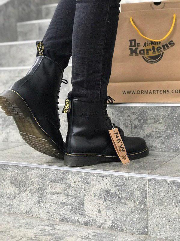 Стильные ботинки 🔥 dr. martens black1460 ❄️❄️ мех зима - Фото 7