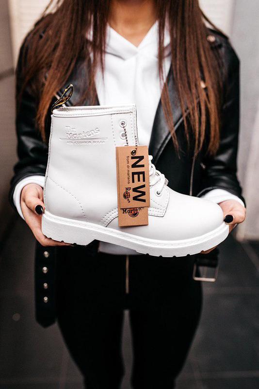 "Стильные ботинки ❄️ dr.martens 1460 classic ""white""  ❄️на меху..."