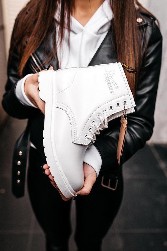 "Стильные ботинки ❄️ dr.martens 1460 classic ""white""  ❄️на меху... - Фото 2"