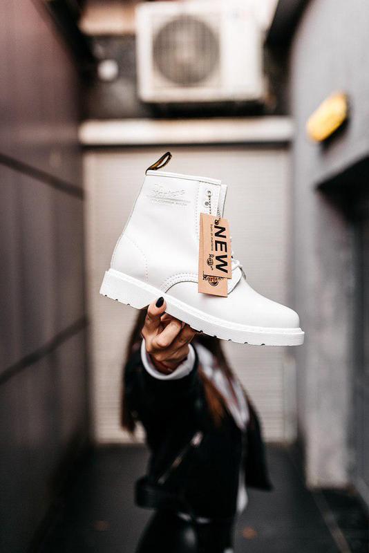 "Стильные ботинки ❄️ dr.martens 1460 classic ""white""  ❄️на меху... - Фото 3"
