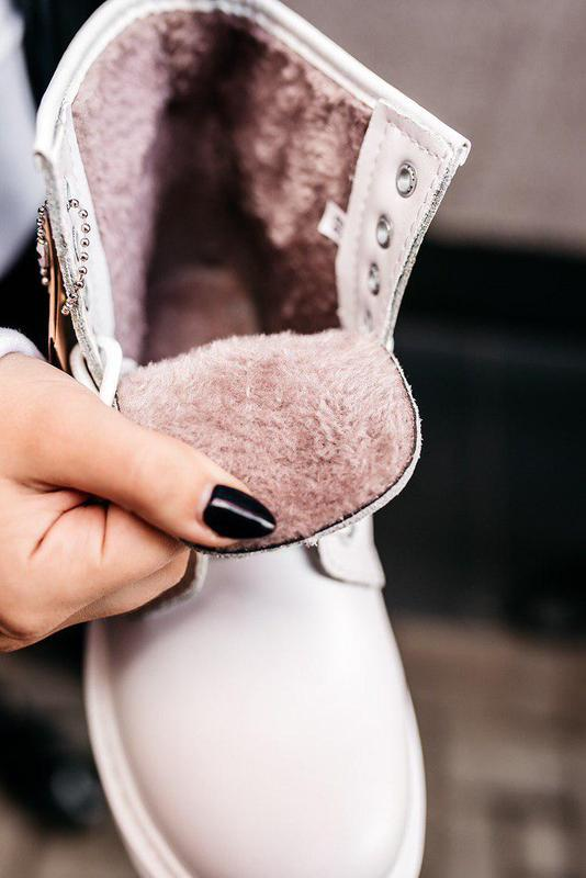 "Стильные ботинки ❄️ dr.martens 1460 classic ""white""  ❄️на меху... - Фото 5"