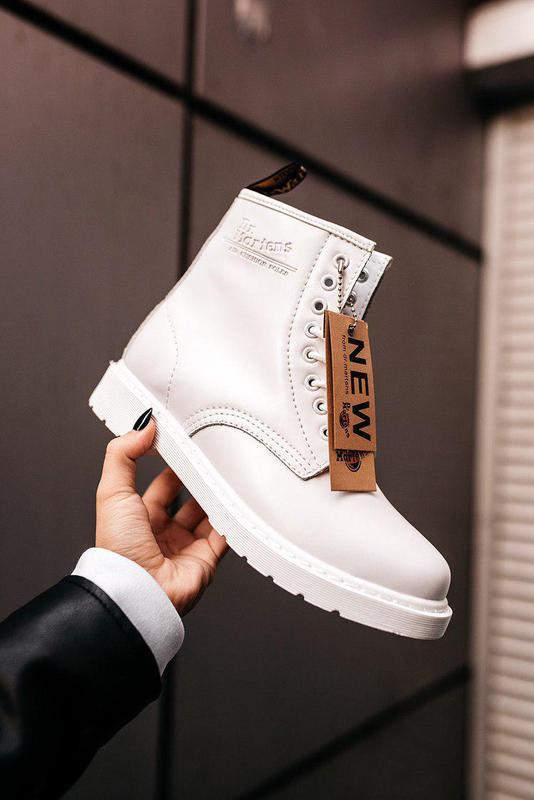 "Стильные ботинки ❄️ dr.martens 1460 classic ""white""  ❄️на меху... - Фото 6"