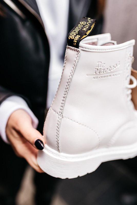 "Стильные ботинки ❄️ dr.martens 1460 classic ""white""  ❄️на меху... - Фото 8"