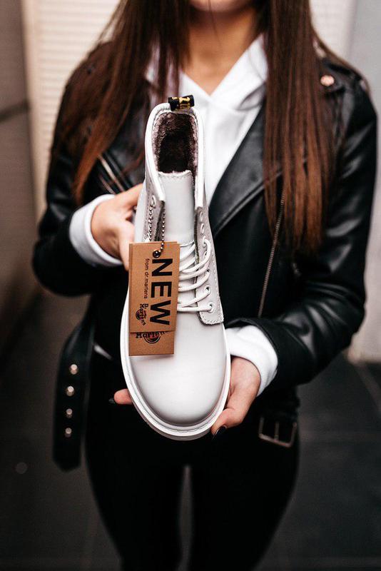 "Стильные ботинки ❄️ dr.martens 1460 classic ""white""  ❄️на меху... - Фото 9"