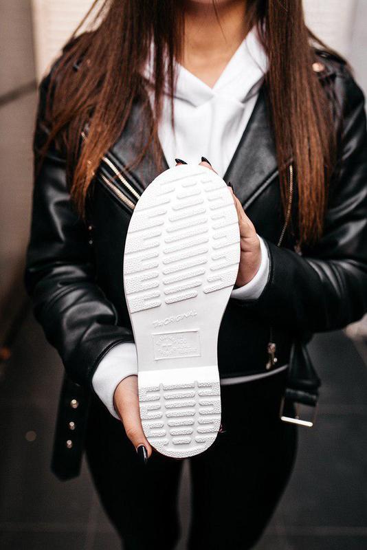 "Стильные ботинки ❄️ dr.martens 1460 classic ""white""  ❄️на меху... - Фото 10"