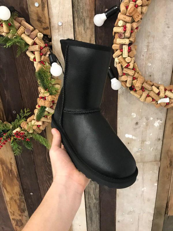Крутые уги ❄️ ugg classic boot leather❄️ на овчине - Фото 2