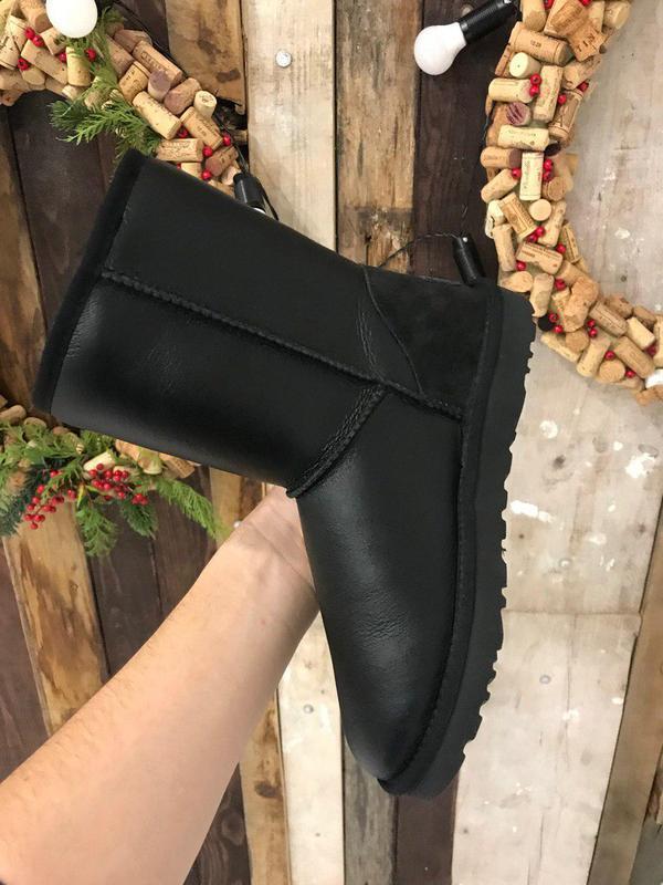 Крутые уги ❄️ ugg classic boot leather❄️ на овчине - Фото 3