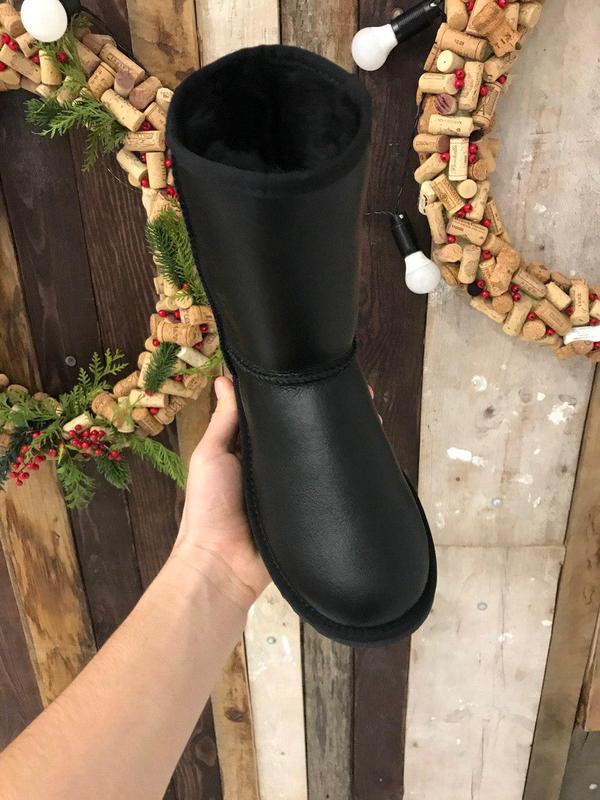 Крутые уги ❄️ ugg classic boot leather❄️ на овчине - Фото 5