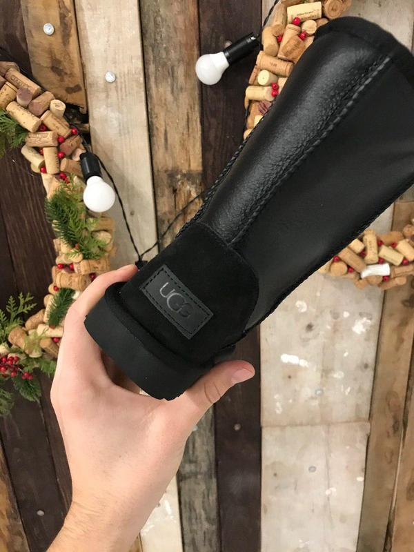 Крутые уги ❄️ ugg classic boot leather❄️ на овчине - Фото 6