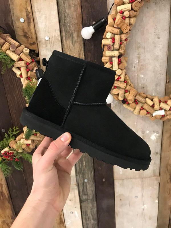 Крутые уги ❄️ ugg mini classic black ❄️ на овчине