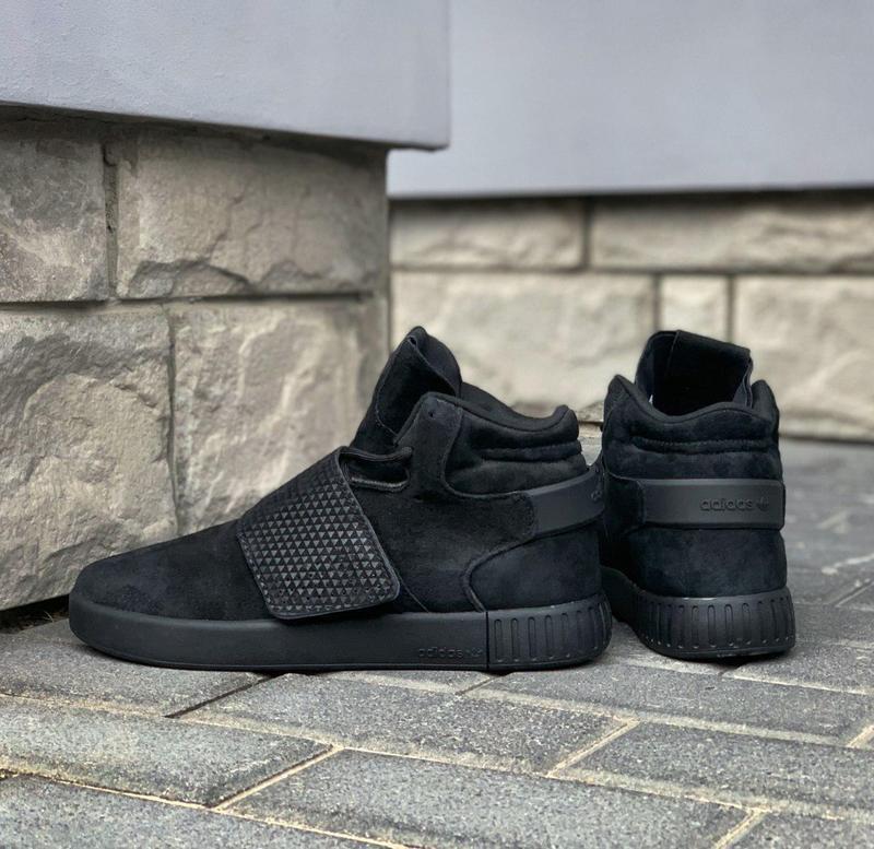 Стильные кроссовки 🔥 adidas tubular invader strap core black🔥 - Фото 2
