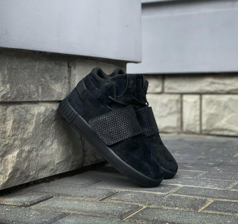 Стильные кроссовки 🔥 adidas tubular invader strap core black🔥 - Фото 3