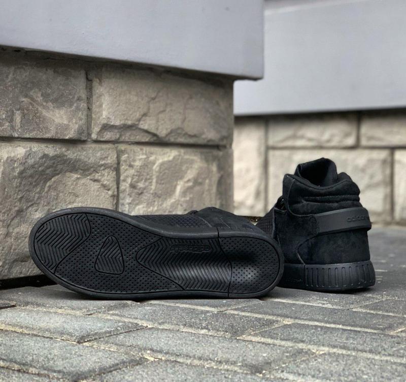 Стильные кроссовки 🔥 adidas tubular invader strap core black🔥 - Фото 5