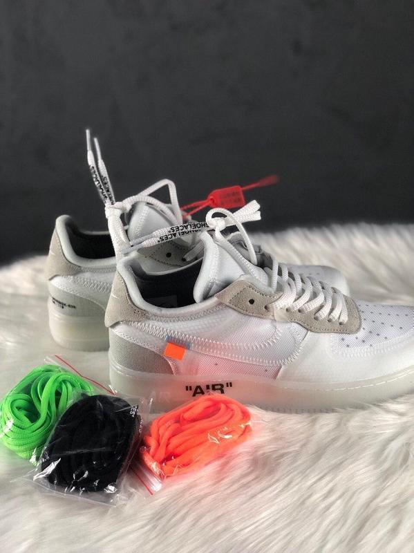 Nike air force 1 low стильные кроссовки - Фото 2