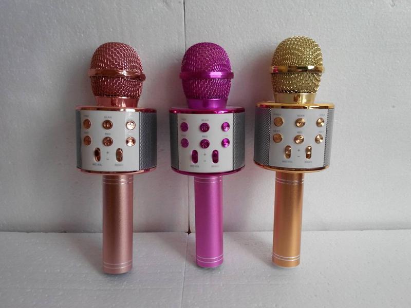 Беспроводной Bluetooth Караоке микрофон WS-858 - Фото 2