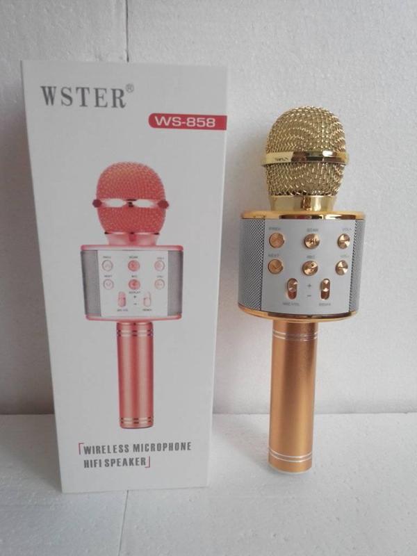Беспроводной Bluetooth Караоке микрофон WS-858 - Фото 3