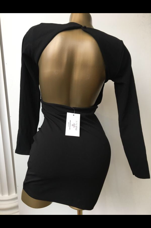 Платье мини открытая спина in the style - Фото 2
