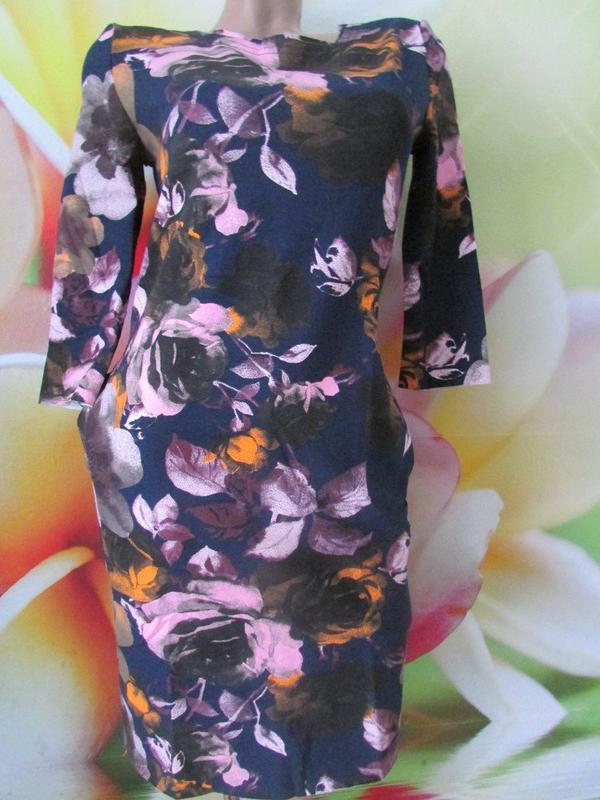 Платье-миди с 3d принтом в цветы