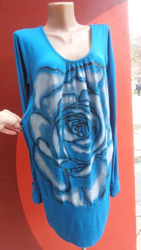 Классная туника с приоткрытой спинкой и накаткой от girly fashion - Фото 2