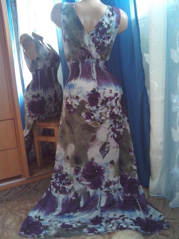 Фиалковое платье в пол от izabel - Фото 3