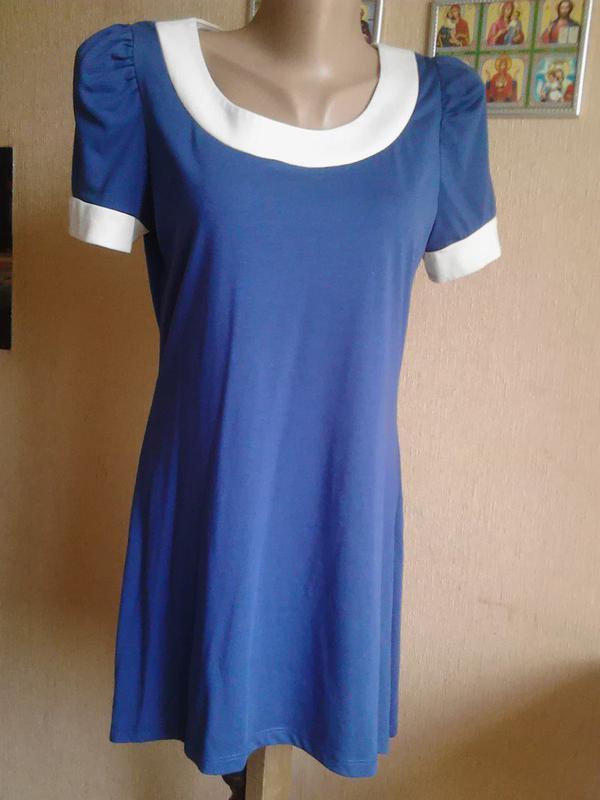 Туника мини-платье с удлинённой спинкой от barbara hulanicki g...