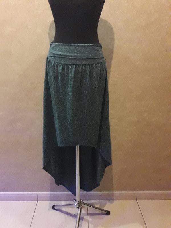 Стильная асимметричная юбка от topshop ( в составе лён )