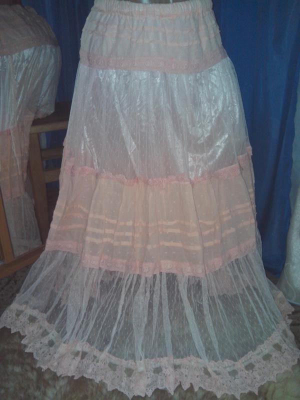 Нежнейшая фатиновая юбочка с кружевом от к - во