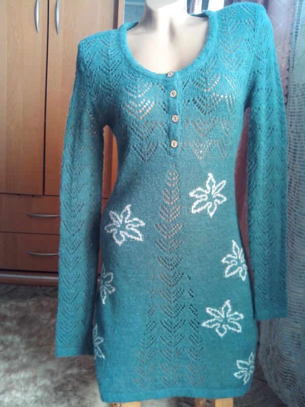 Нежнейшее тёплое платье-туника