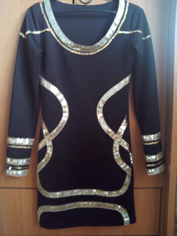 Чёрное платье-мини - Фото 4