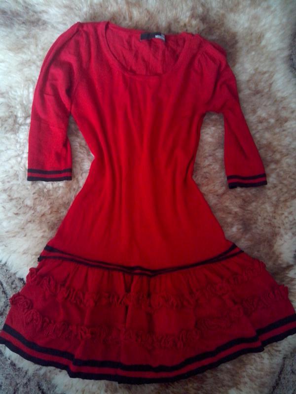 Тёплое трикотажное платье - Фото 3