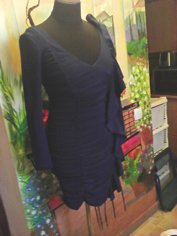 Платье-мини, бандажное