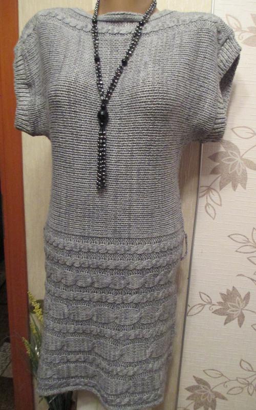 Вязаное тёплое платье-туника от touch