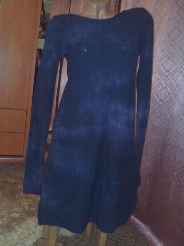 Ажурной вязки платье-туника с открытой спинкой от jean's west