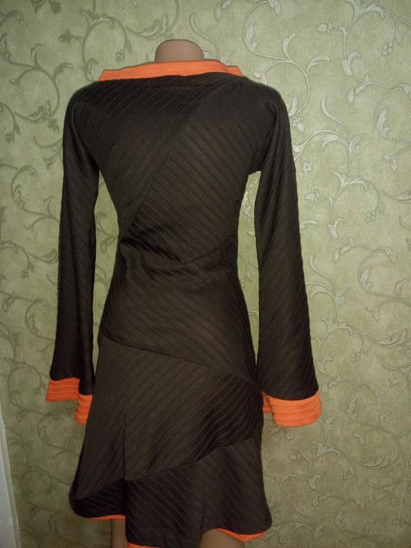 Интересное платье-миди с длинными рукавчиками, тёплое от matilda - Фото 2