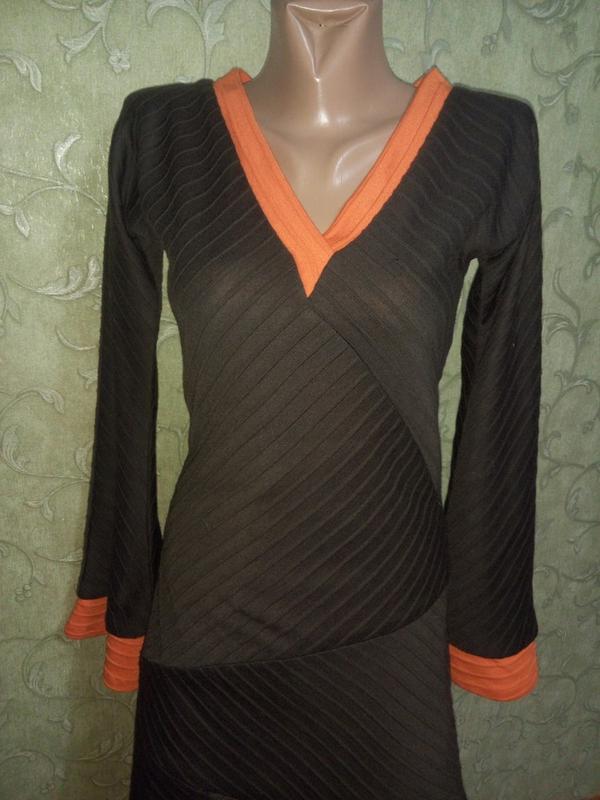 Интересное платье-миди с длинными рукавчиками, тёплое от matilda - Фото 3