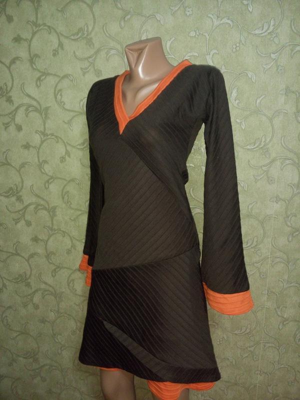 Интересное платье-миди с длинными рукавчиками, тёплое от matilda - Фото 5