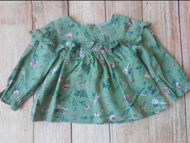 Блуза с рюшей next на 12-18мес.