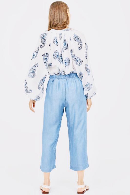 Голубые брюки кюлоты h&m ! - Фото 3