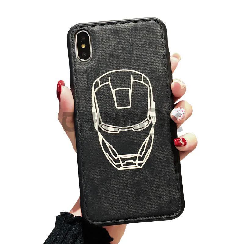 Чехол IRON MAN Marvel из кожи для iPhone X/XS