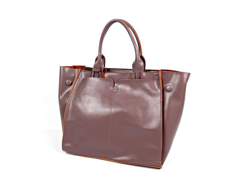 Розовая большая женская сумка из натуральной кожи, galanty - Фото 3