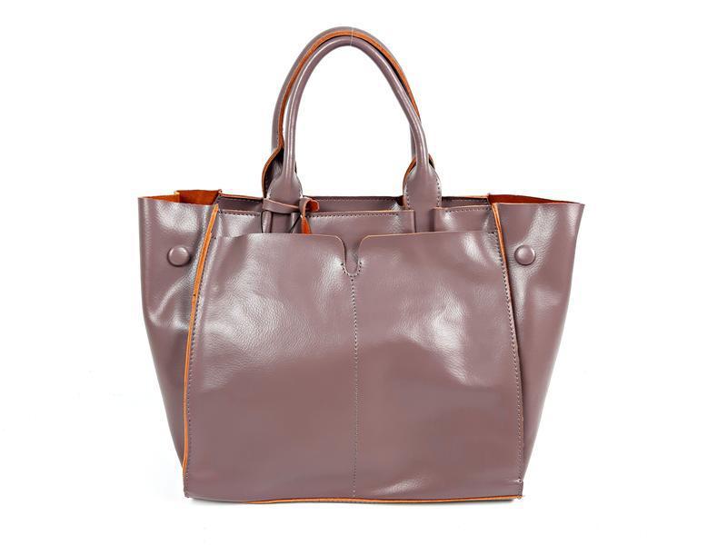 Розовая большая женская сумка из натуральной кожи, galanty - Фото 5