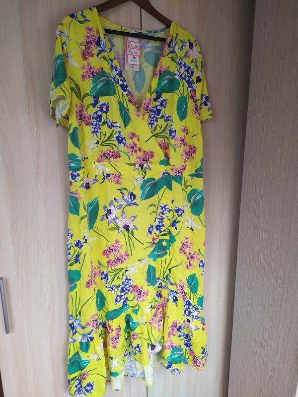 Яркое натуральное летнее платье