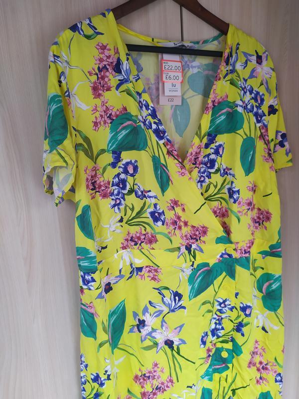 Яркое натуральное летнее платье - Фото 4