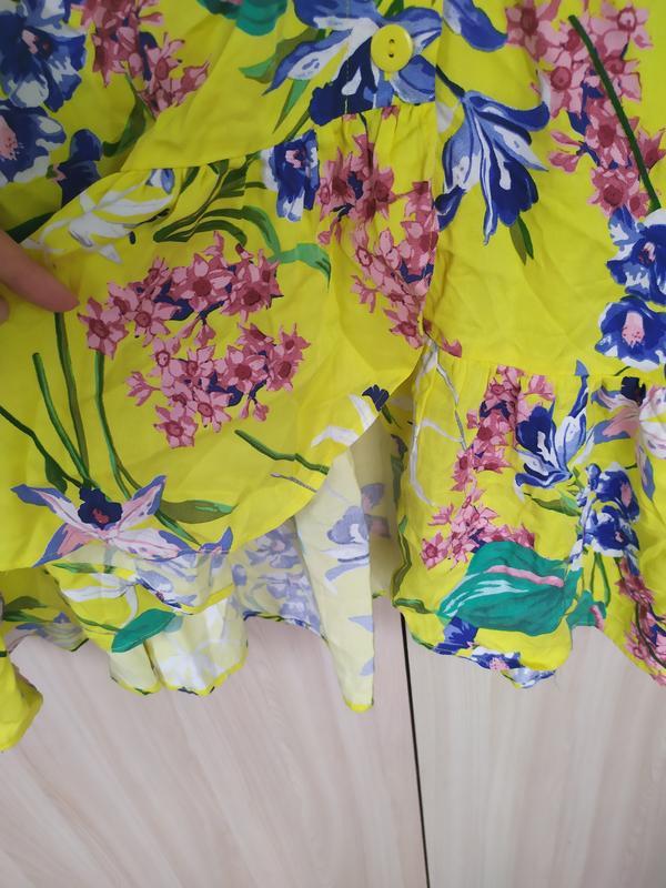 Яркое натуральное летнее платье - Фото 5