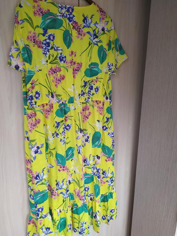 Яркое натуральное летнее платье - Фото 6
